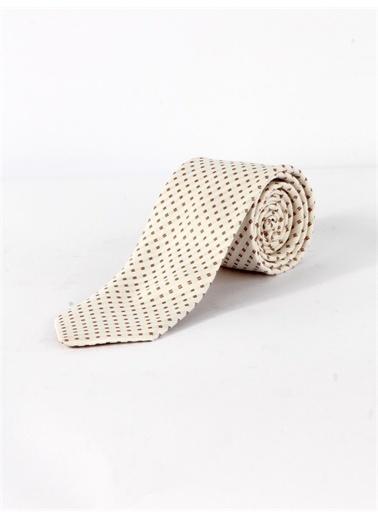 Dufy Noktali Ipek Kravat Beyaz